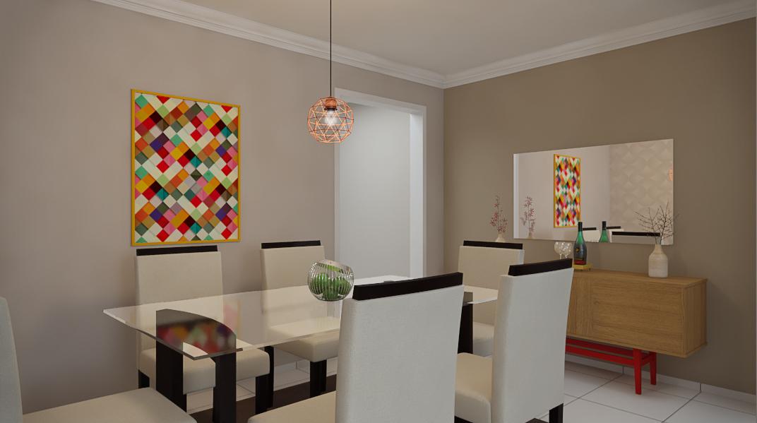 Sala Integrada estilo Moderno prático Aconchegante