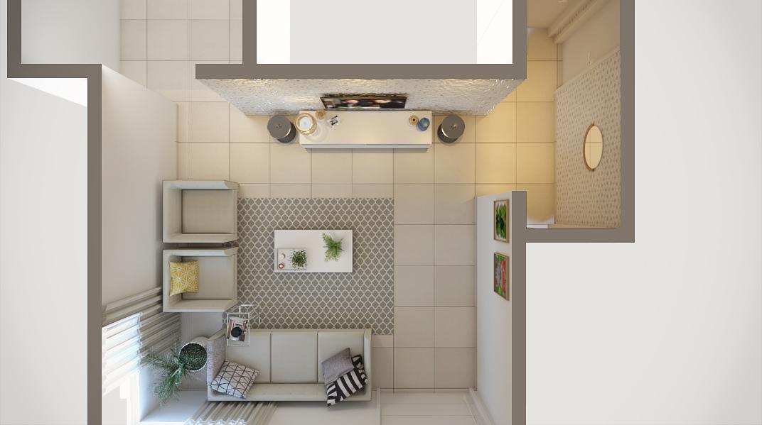 Sala de estar estilo Moderno sofisticado Minimalista