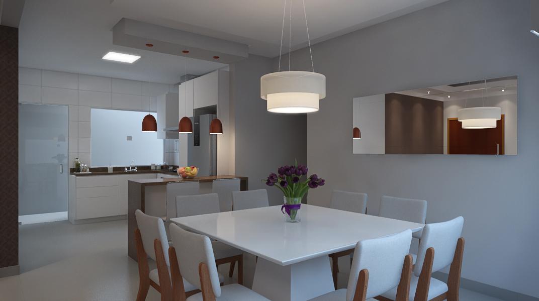 Sala Integrada estilo Moderno sofisticado Minimalista