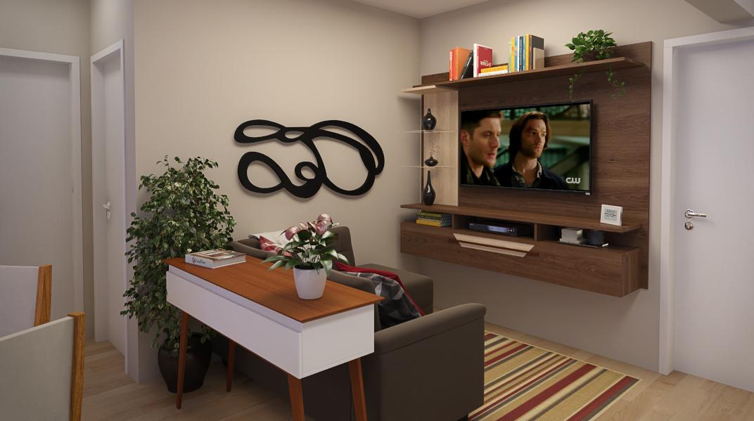 Sala de estar estilo Moderno sofisticado Romântico