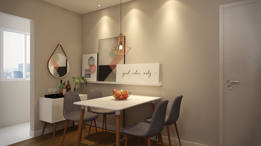 Sala Integrada estilo Divertido Aconchegante