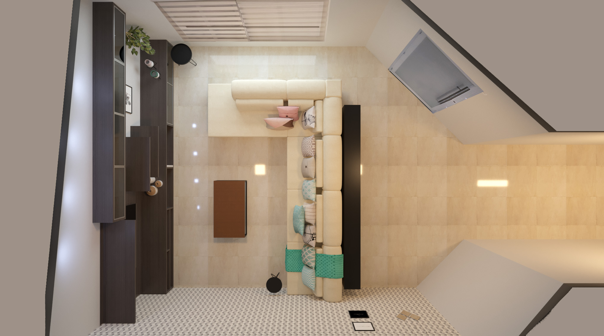 Sala de estar estilo Romântico Aconchegante