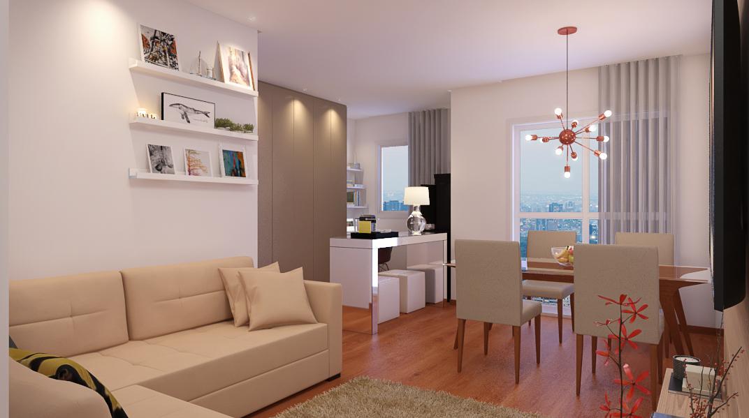 Sala Integrada estilo Moderno sofisticado Rústico