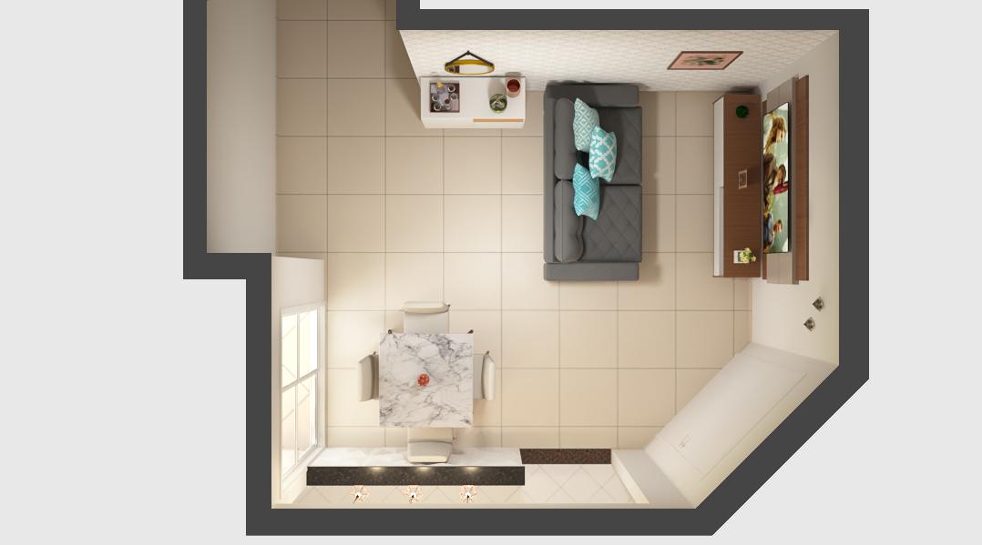 Sala Integrada estilo Moderno sofisticado Aconchegante