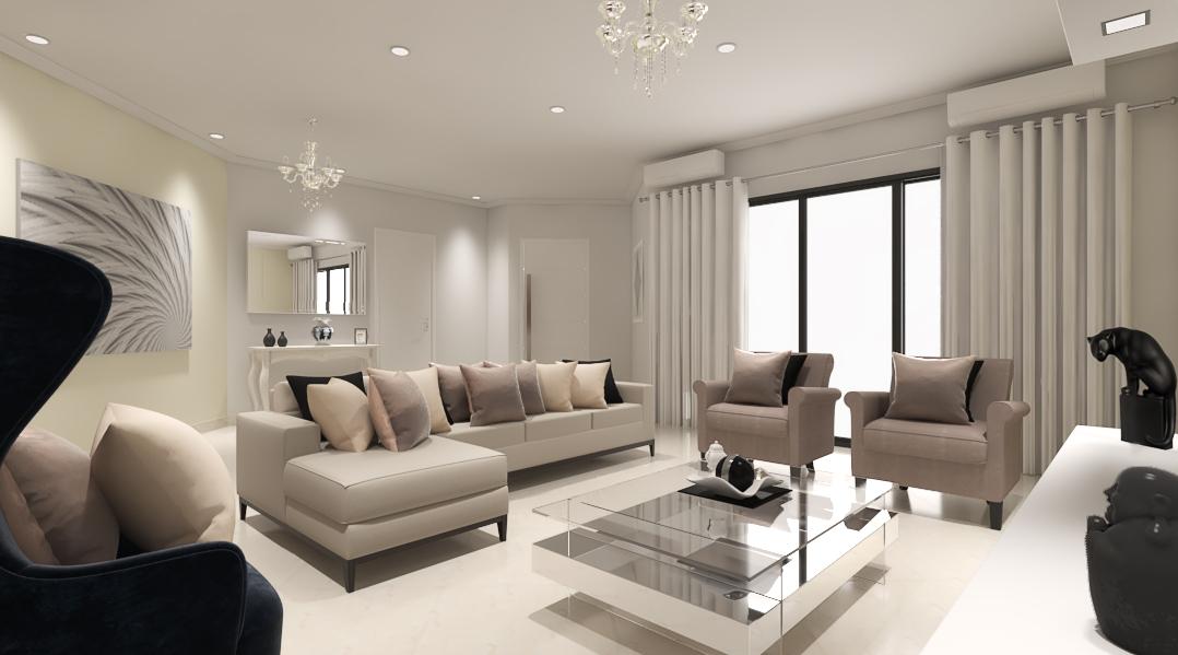 Sala de estar estilo Clássico