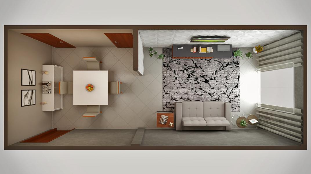 Sala de estar estilo Moderno prático Minimalista