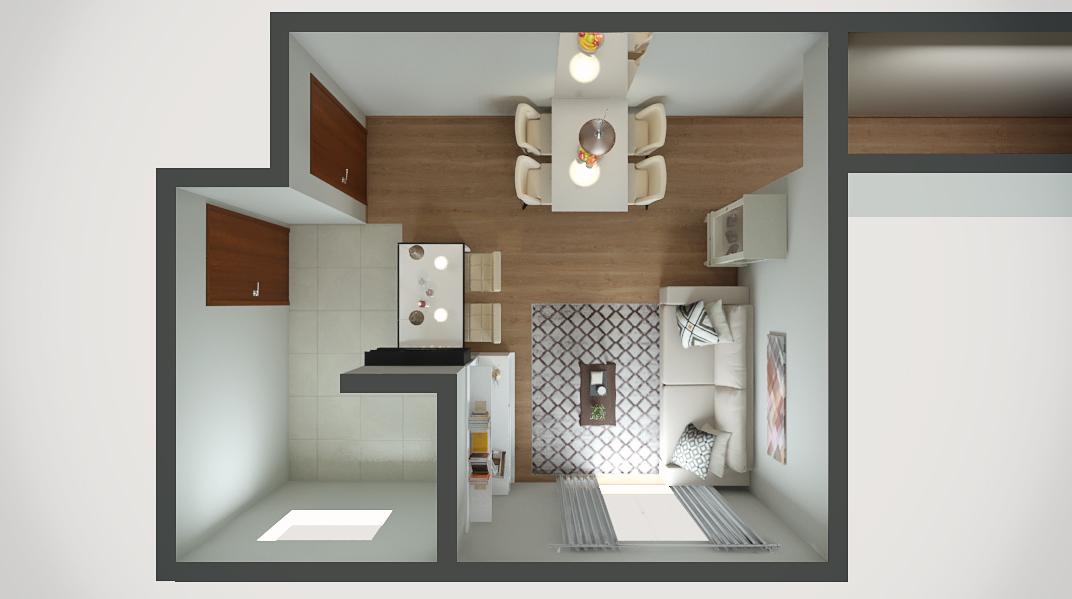 Sala Integrada estilo Clássico