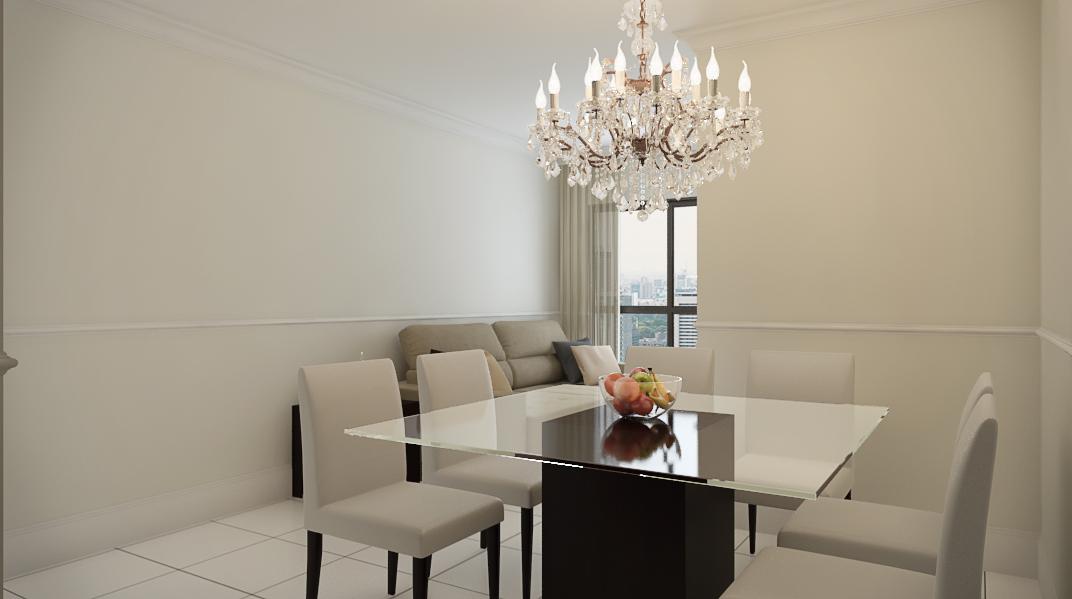 Sala Integrada estilo Moderno sofisticado Moderno prático