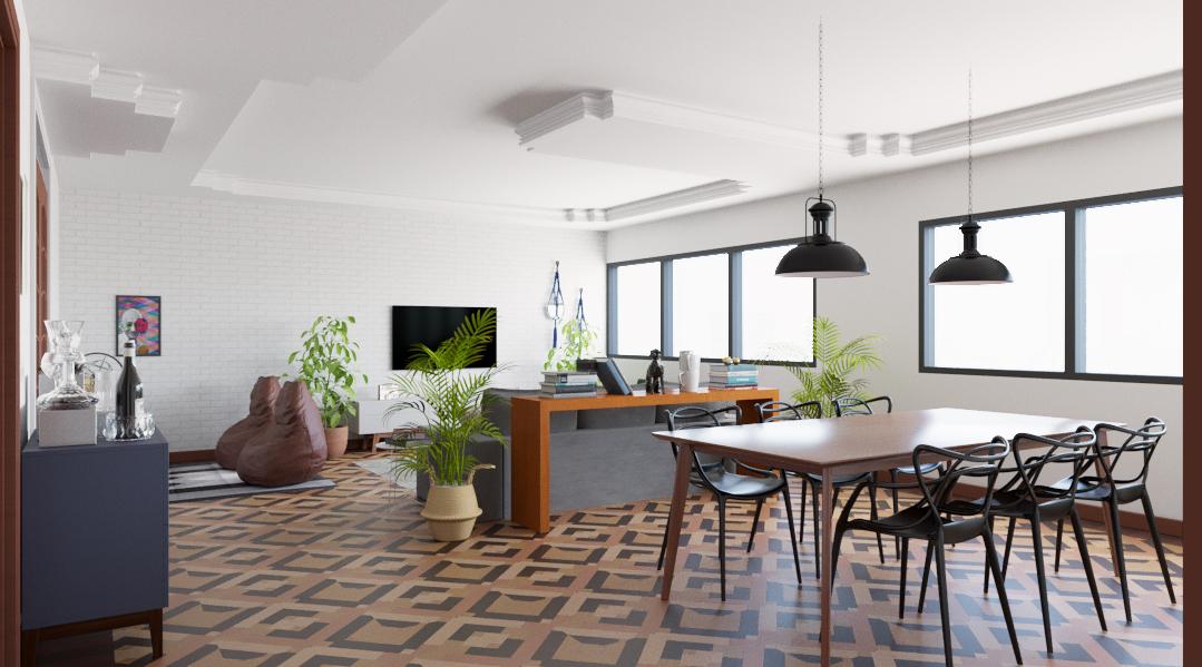 Sala de estar estilo Divertido Aconchegante