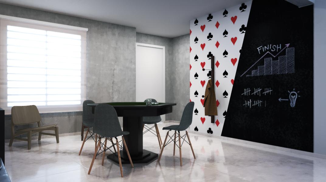 Sala de estar estilo Moderno prático Industrial