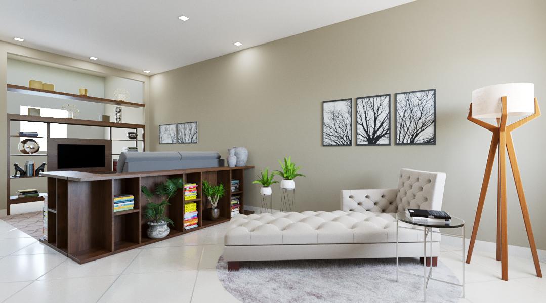 Sala de estar estilo Moderno sofisticado Aconchegante