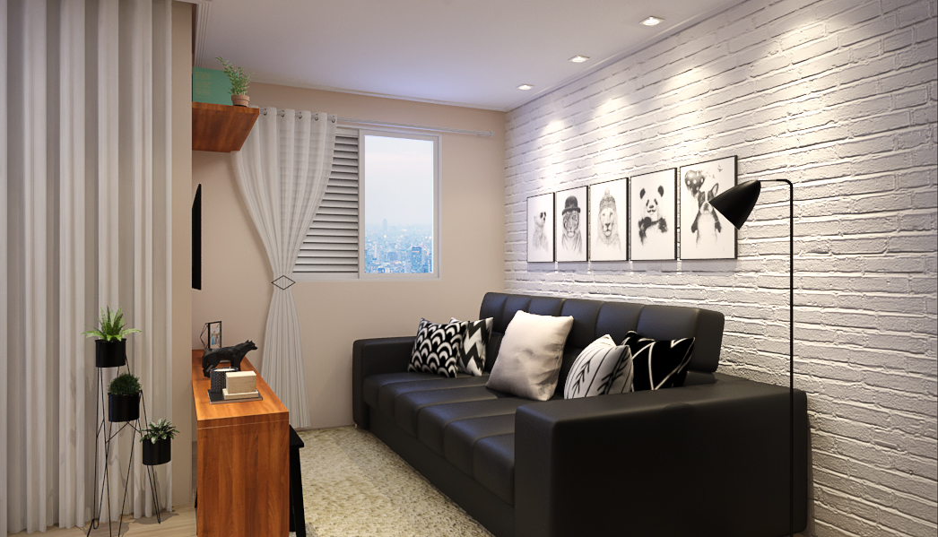 Sala de estar estilo Moderno sofisticado Colonial