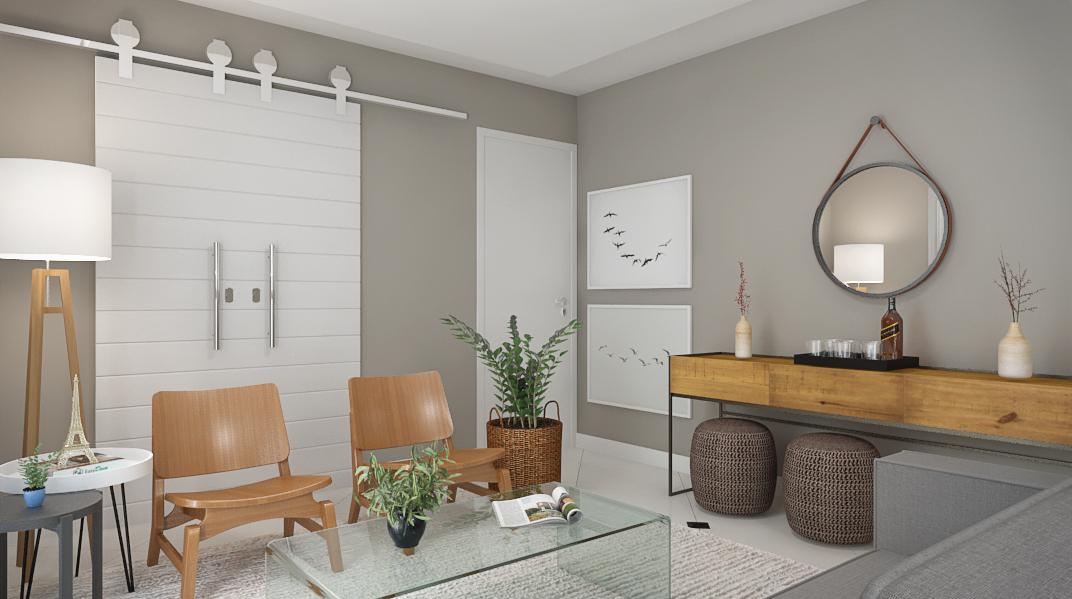 Sala Integrada estilo Cool Minimalista