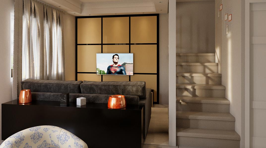 Sala Integrada estilo Aconchegante Clássico