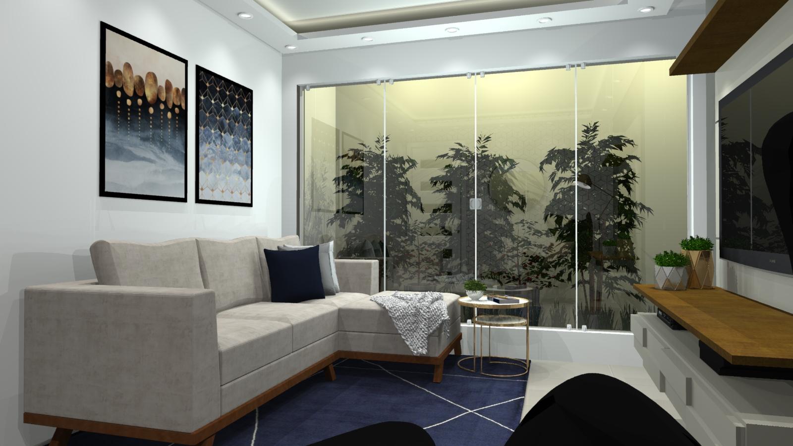 Sala de estar estilo Moderno sofisticado Moderno prático