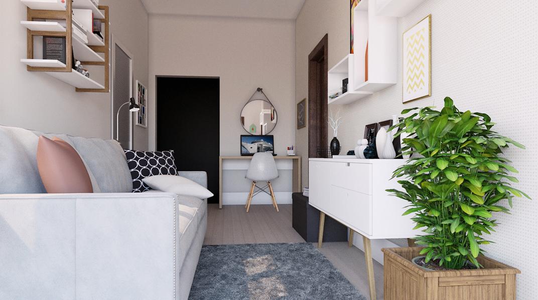 Sala de estar estilo Aconchegante