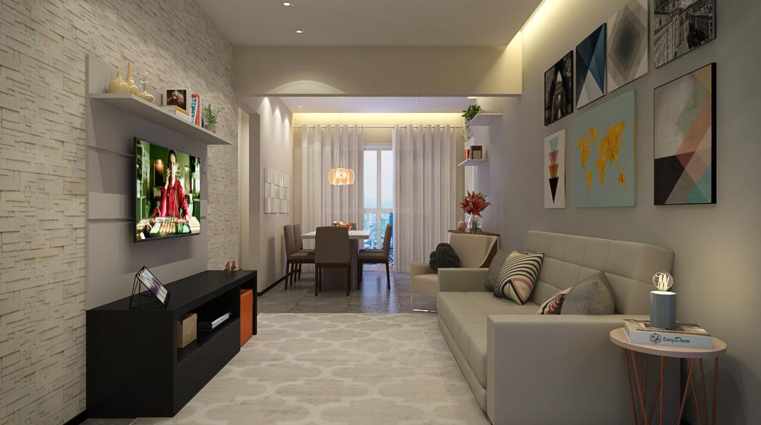 Sala Integrada estilo Moderno sofisticado Romântico