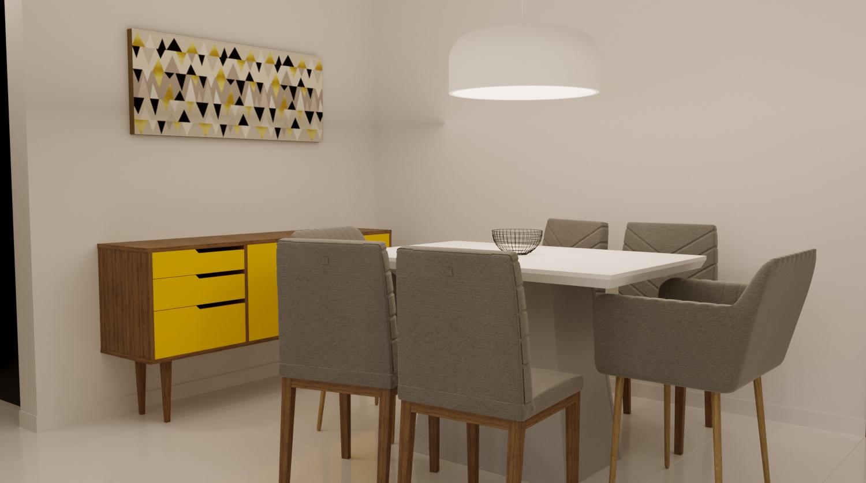 Sala de Jantar estilo Aconchegante Minimalista