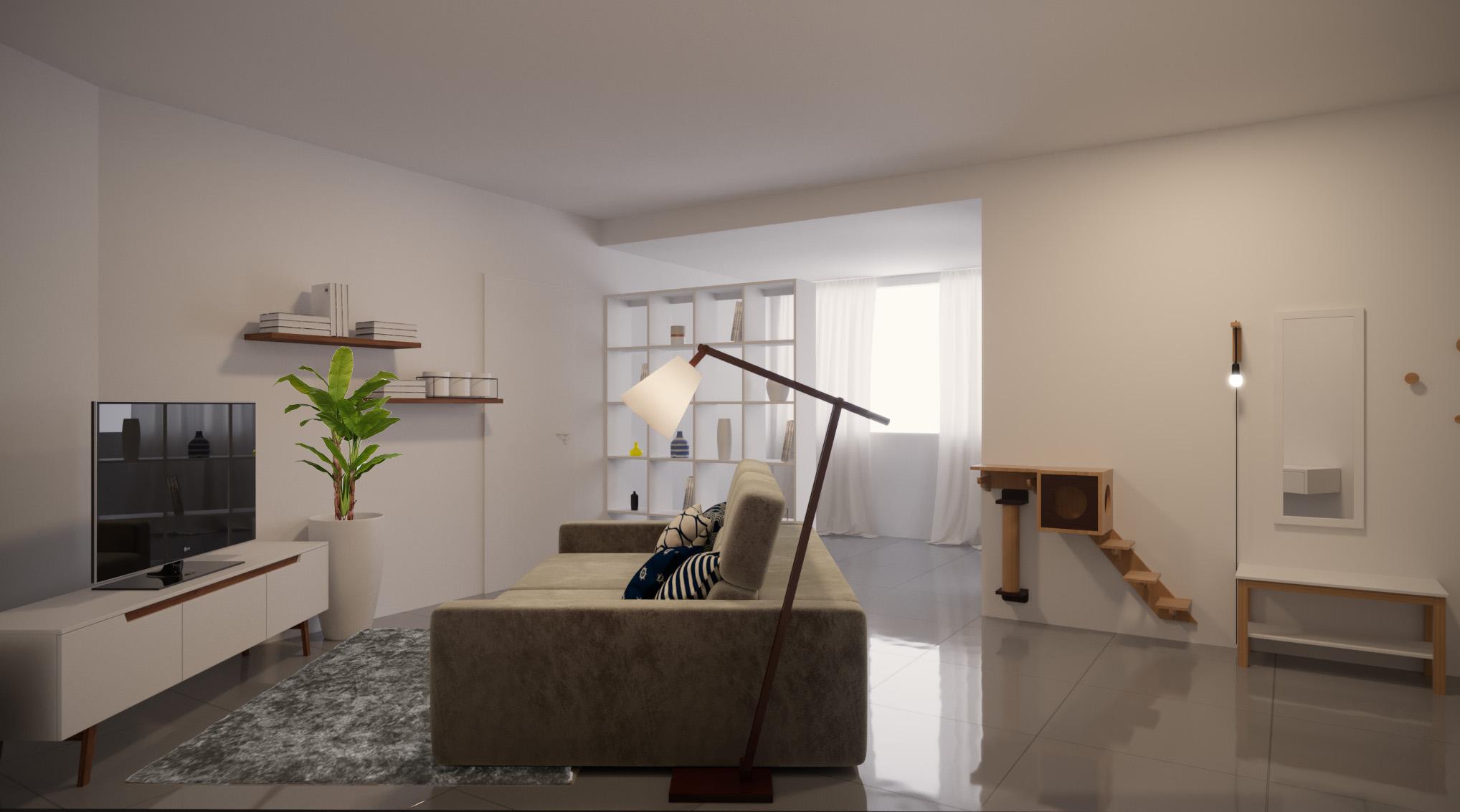 Sala de estar estilo Moderno sofisticado Divertido