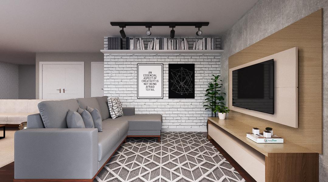 Sala de estar estilo Moderno sofisticado Cool