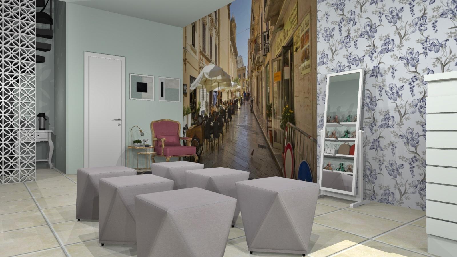 Sala de estar estilo Divertido Romântico