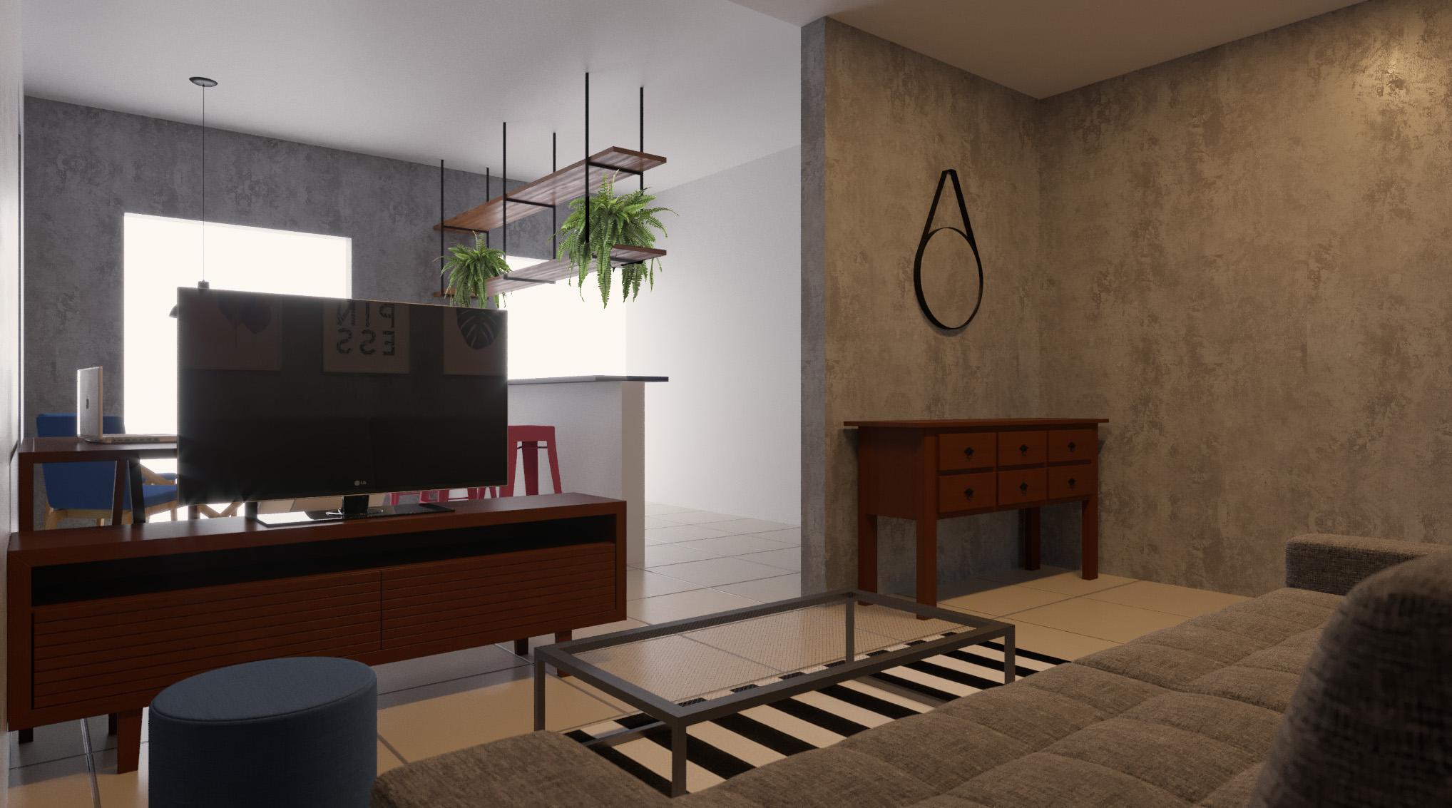 Sala Integrada estilo Divertido Industrial