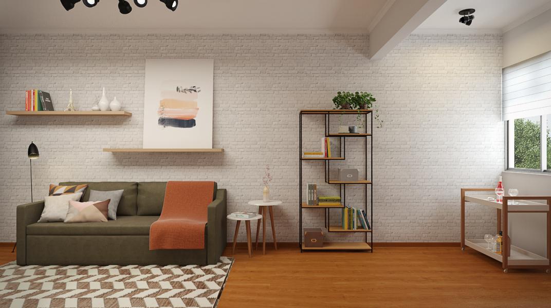 Sala Integrada estilo Aconchegante