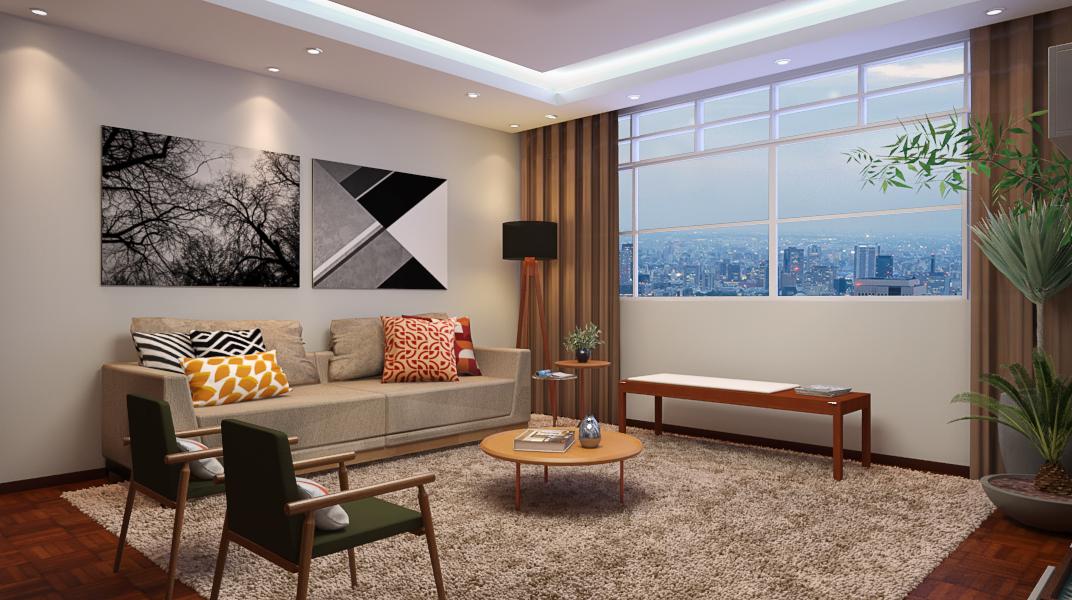 Sala de estar estilo Romântico Cool