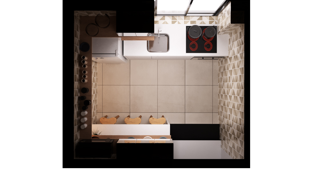 Cozinha estilo Moderno prático