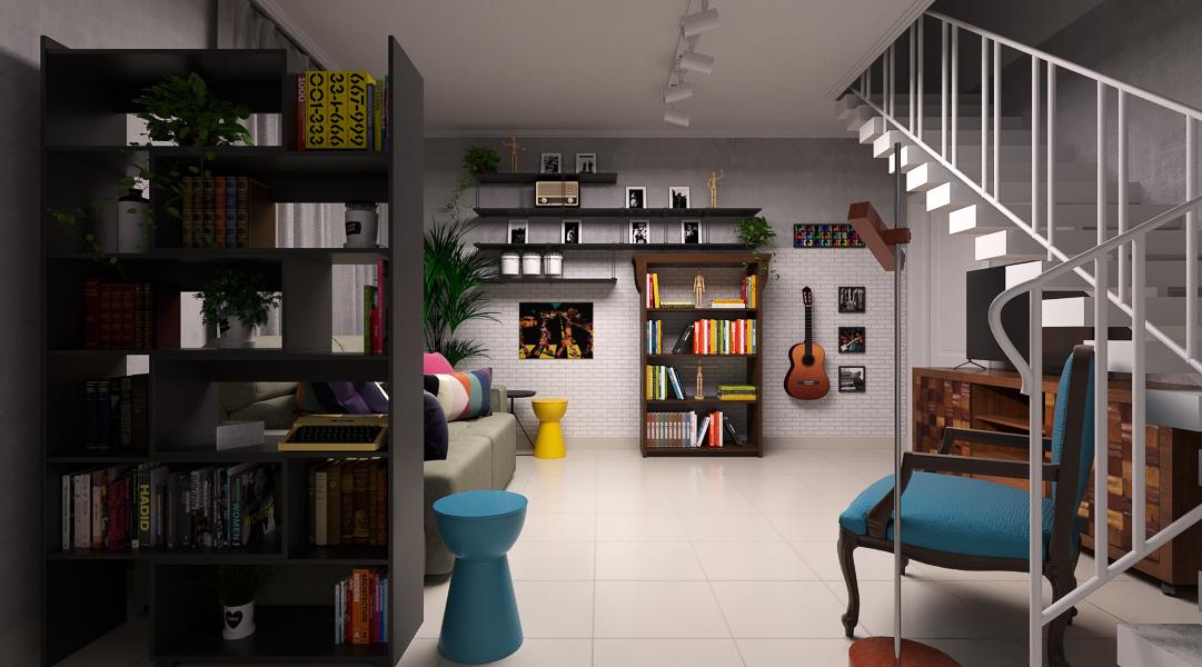 Sala de estar estilo Moderno prático