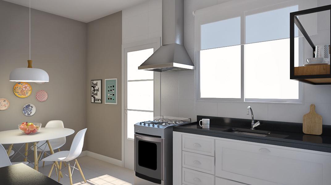 Cozinha estilo Moderno prático Aconchegante