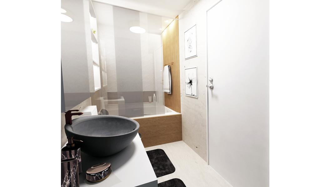 Banheiro estilo Moderno sofisticado Moderno prático