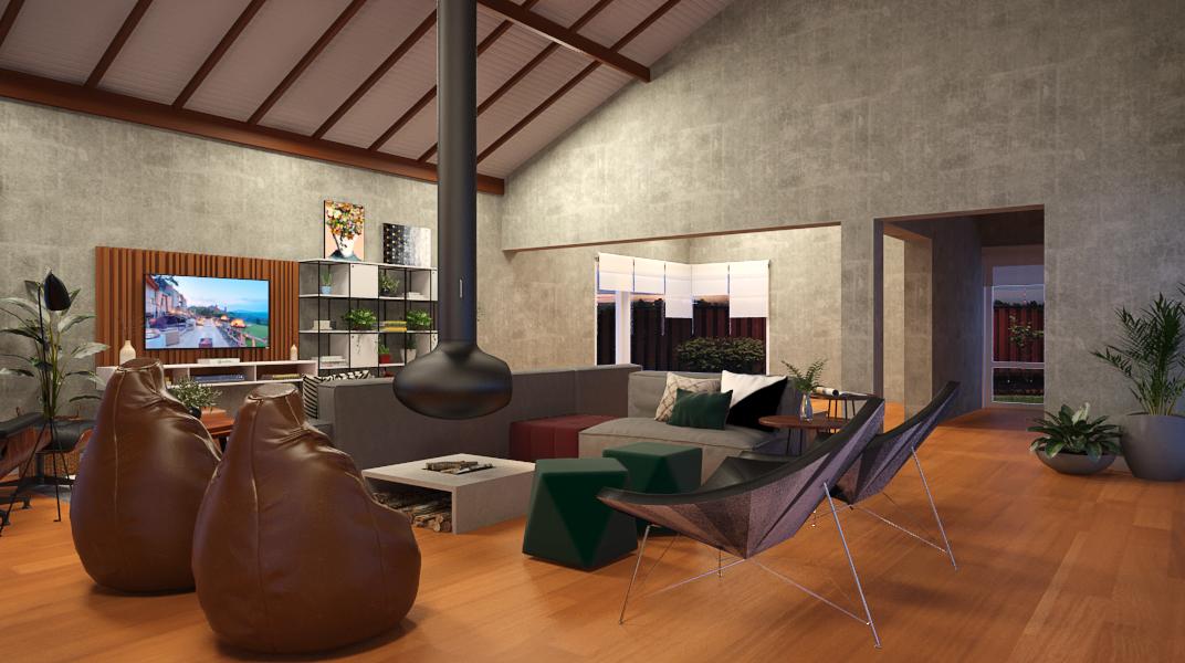 Sala de estar estilo Colonial