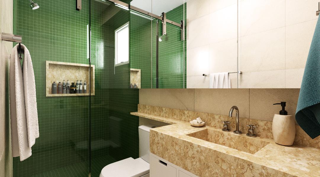 Banheiro estilo Moderno sofisticado
