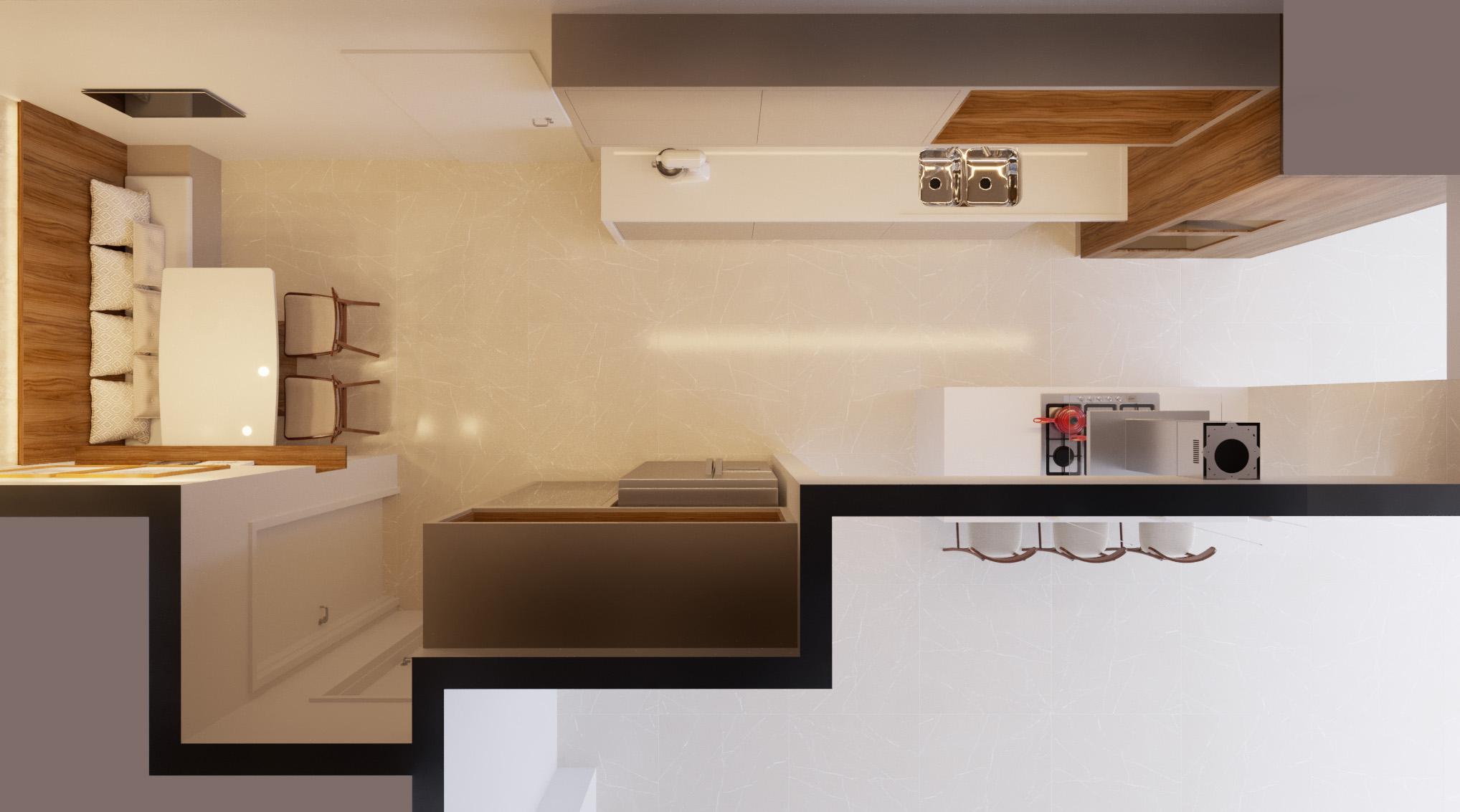 Cozinha estilo Moderno sofisticado