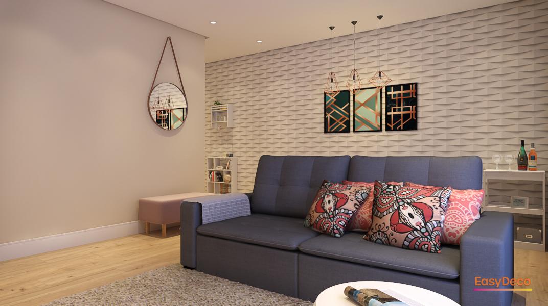 Sala Integrada estilo Moderno sofisticado