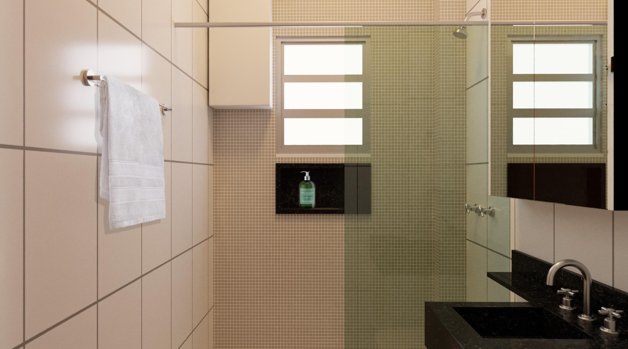 Banheiro estilo Moderno sofisticado Minimalista