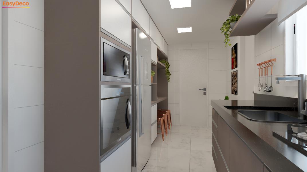 Cozinha estilo Moderno sofisticado Moderno prático