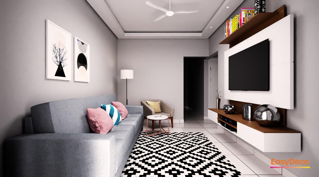 Sala de estar estilo Romântico