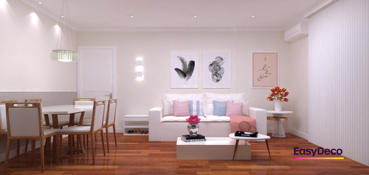 Sala Integrada estilo Romântico