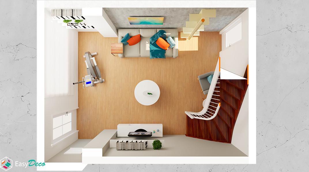 Sala de estar estilo Moderno sofisticado