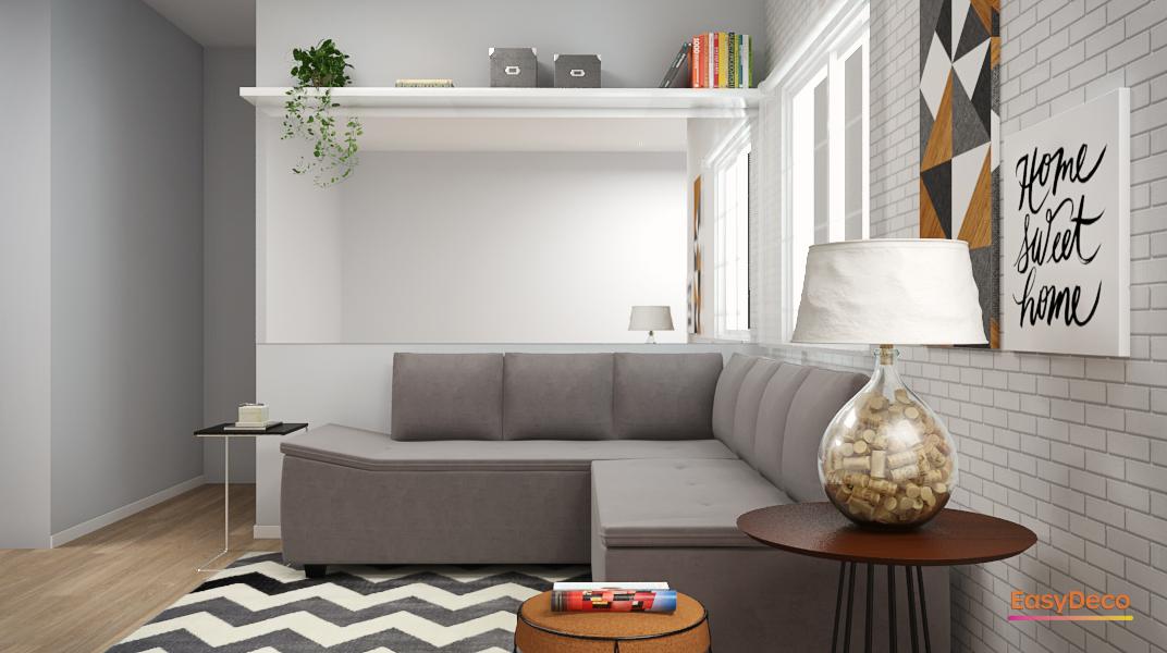 Sala de estar estilo Moderno prático Aconchegante