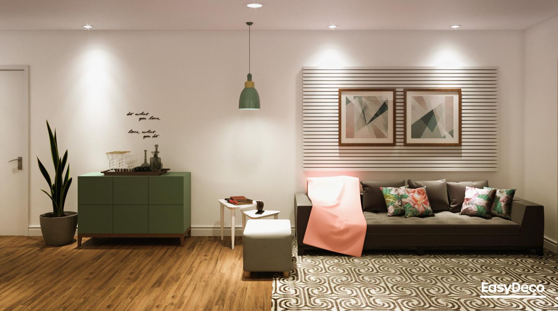 Sala de estar estilo Romântico Minimalista