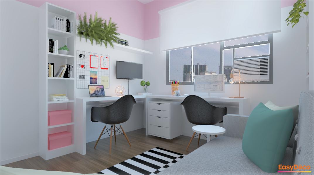 Home Office Cool e Aconchegante