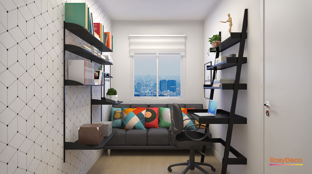 Escritório e quarto de hóspedes