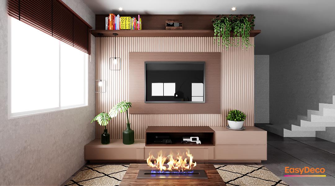 Sala minimalista e charmosa