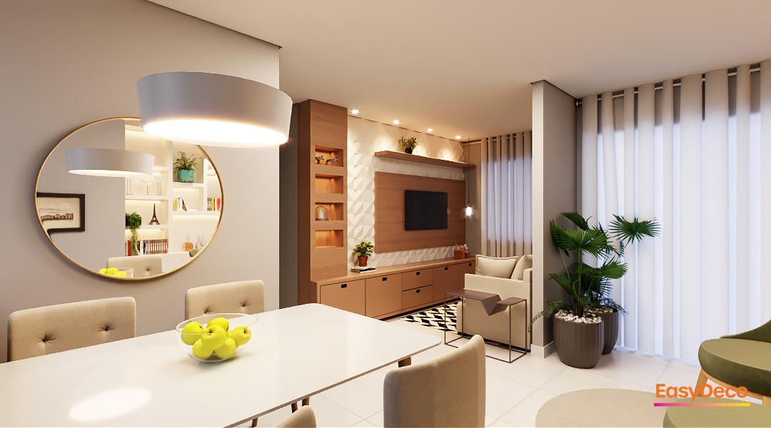 Sala sofisticada pra um casal moderno