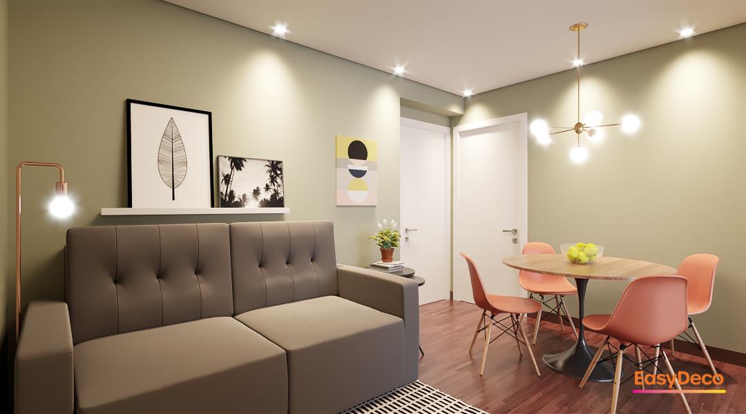 Sala integrada prática e moderna