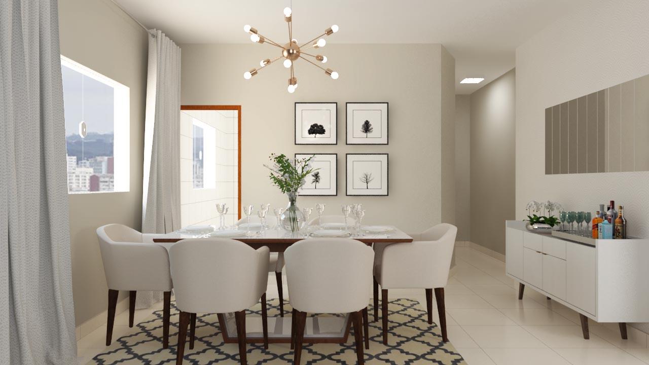 Sala de jantar sofisticada