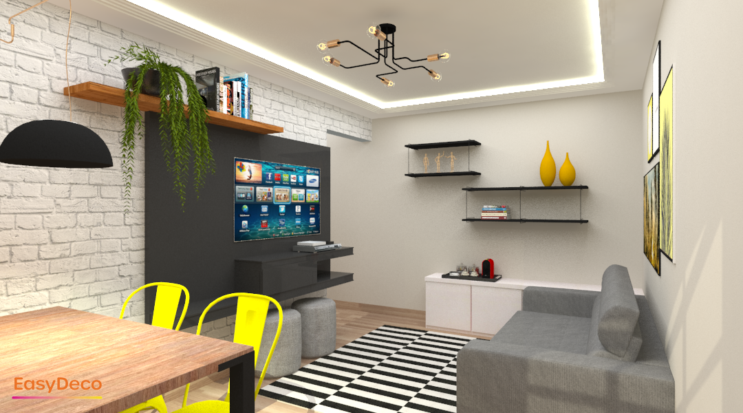 Sala moderna e descolada